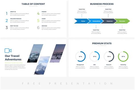 25 Free Professional Ppt Templates For Project Presentations Free Powerpoint Slide Template