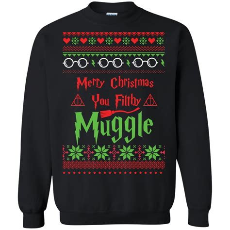 Sweater Harry Potter Muggle merry you filthy muggle harry potter sweater