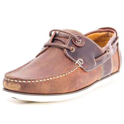 barbour capstan mens boat shoes in brown