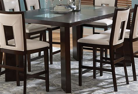 espresso counter height dining table delano espresso cherry extendable counter height dining