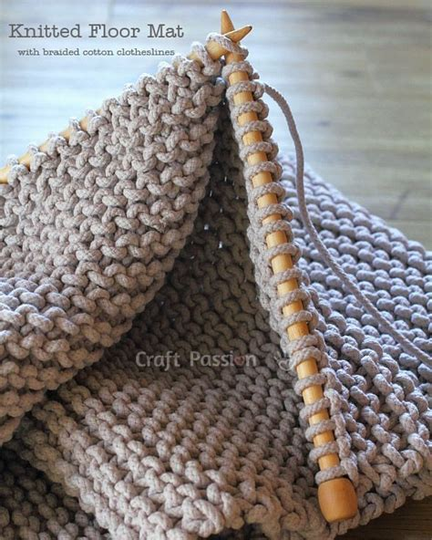 how to knit a rug with fabric floor mat free knitting pattern knitting clotheslines and fabrics