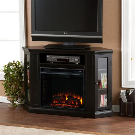 Media Storage Fireplace by Claremont Convertible Media Electric Fireplace Black