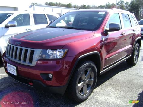 jeep trailhawk 2013 2013 deep cherry red crystal pearl jeep grand cherokee
