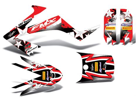 Honda Fmx 650 Aufkleber by Honda Fmx 650 2005 2006 2007 Dekor Full Decal Kit Grafiche