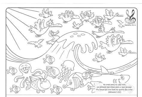 free seven days of creation coloring pages