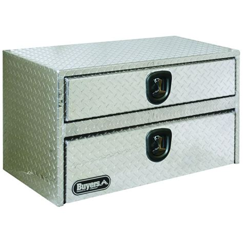 Underbody Tool Box With Drawers buyers products company 48 in aluminum underbody tool box with 2 drawers 1712210 the home depot
