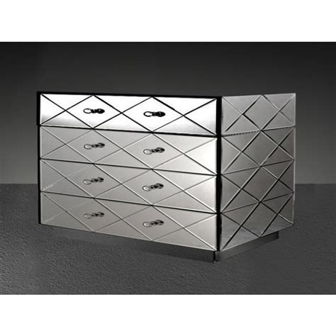 segovia modern mirrored bedroom furniture dresser