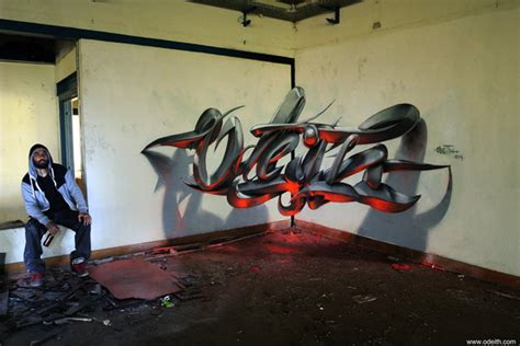 mind bending anamorphic graffiti illusions  artist