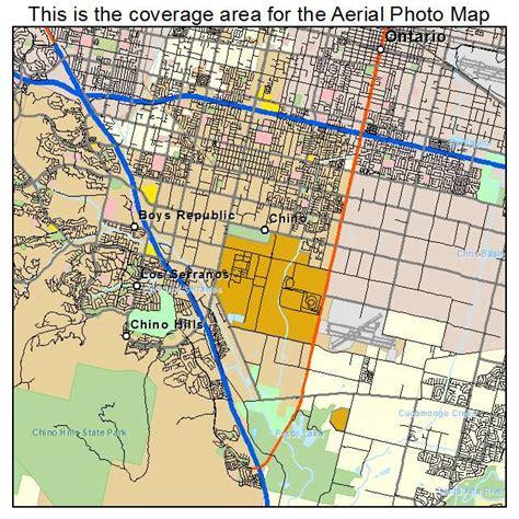california map chino aerial photography map of chino ca california