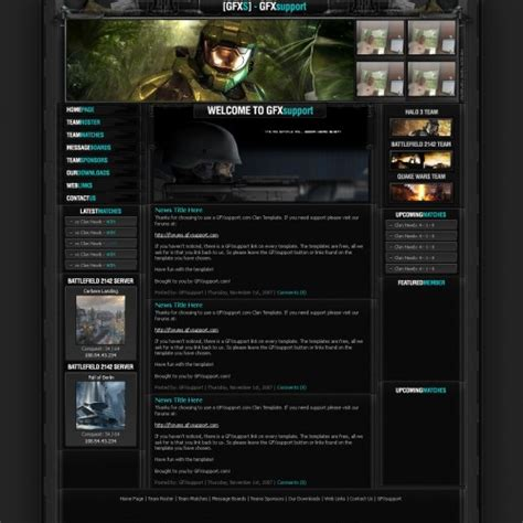 website templates for gaming clans 10 free professional psd web templates creativefan