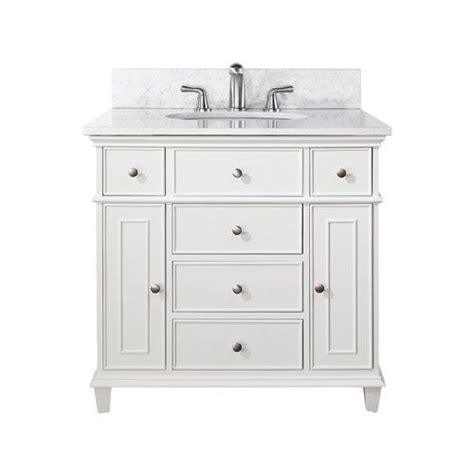 36 bathroom vanity white windsor 36 inch white vanity with carrera white marble top