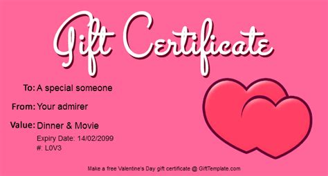 s day gift cards templates free gift certificate templates gift certificate templates