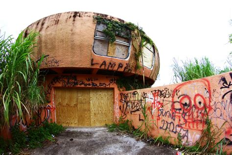 ufo house abandoned alien homestead forsaken ufo house in florida urbanist