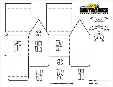 paper bag haunted house pattern haunted house template halloween pinterest box