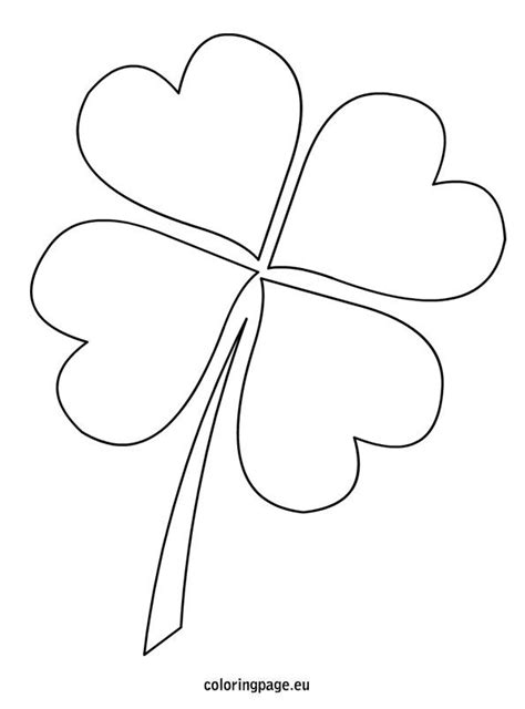 four leaf clover template 4 leaf clover template st s day