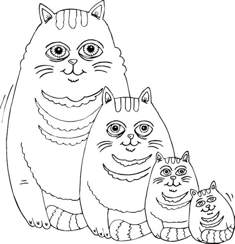 coloring page fat cat fat cat family coloring page coloring com