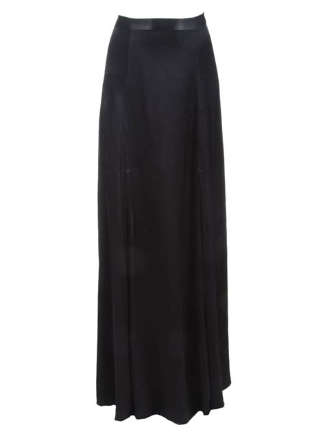 l agence slit maxi skirt in black lyst