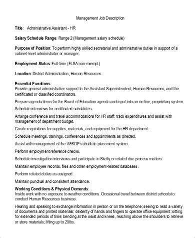 Business Administration Description by Sle Business Administration Description 9 Exles In Pdf Word