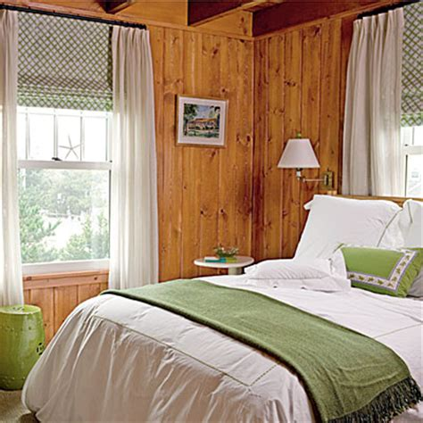 Bedroom Color Ideas With Pine Preppy Bedroom Wood Walls Green Accents Style