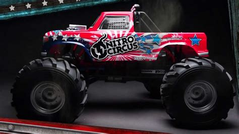 rc nitro monster truck basher nitro circus mt 1 8th scale rc monster truck youtube