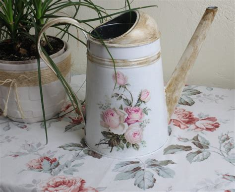 Decoupage Metal - watering can decoupage tutorial step by step by kasia1989