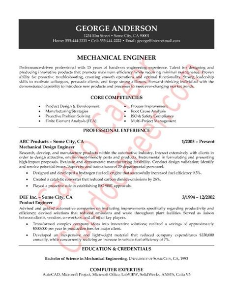 resume format for mechanical 10 best images about best electrical engineer resume