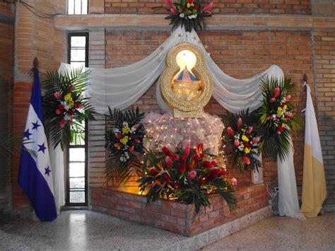 imagenes de altares de novenarios con papel la huella de san jose concluye novena a la virgen de suyapa