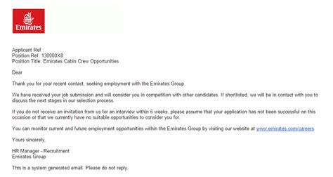 Cover Letter For Application Emirates Sle Reply Letter Unsuccessful Application Reportd24 Web Fc2