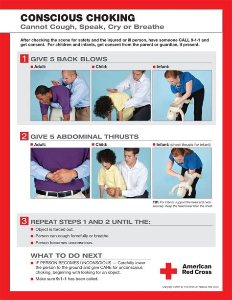 printable choking instructions how to perform the heimlich maneuver who invented it