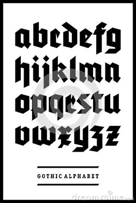 gothic font alphabet type royalty  stock photography