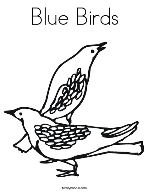 coloring pages blue bird blue birds coloring page twisty noodle