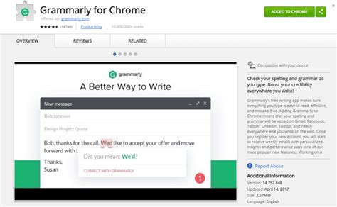 chrome grammarly 11 must use google chrome extensions for bloggers