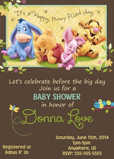 imagenes de winnie pooh para whatsapp baby winnie the pooh baby shower invitations 8 99