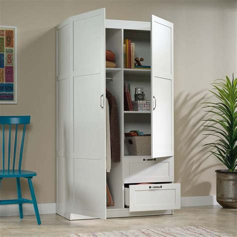 Sauder White Armoire by Sauder Select Wardrobe Armoire In White 420495