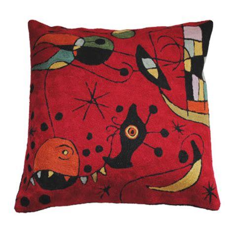 Handmade Cushions Uk - zaida handmade kandinsky style miro cushion