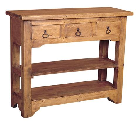 Rustic Side Table Rustic Pine Side Table 3 Drawers Tres Amigos World Imports