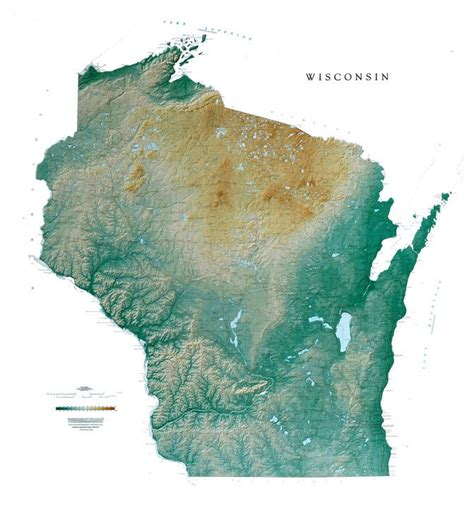 physical map of wisconsin mrs cady wisconsin