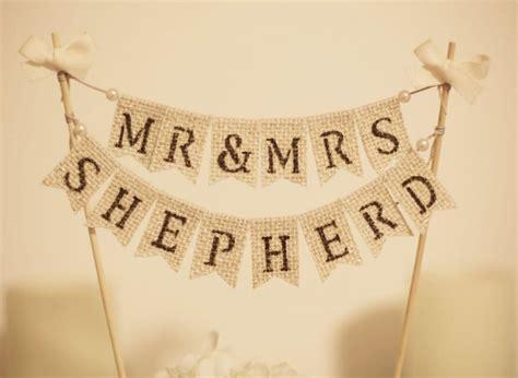 Wedding Banner Cake Topper by Mr Mrs Cake Topper Rustic Wedding Cake Topper
