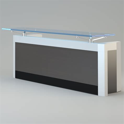 Modern Reception Desk Contemporary Reception Desk Free 3d Model Max Cgtrader