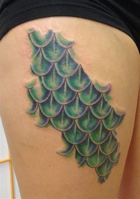 mermaid scale tattoos 35 mermaid scale tattoos for