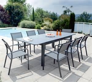 table de jardin plateau en verre brisbanne u