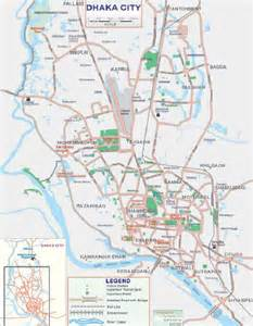 dhaka city map bangladesh