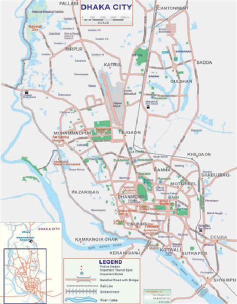 map of dhaka city dhaka city map bangladesh