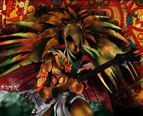 imagenes de guerreros aztecas wallpapers rockero azteca by tocatl on deviantart