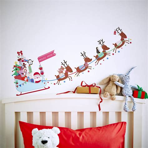 christmas wall stickers wall art kids