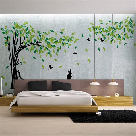 green tree wall sticker large vinyl removable living room tv wall art decals home decor diy