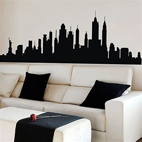 new york skyline wall sticker skyline wall decals like paintings easy to use funk