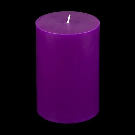 Wholesale Vases For Wedding 4x6 Purple Pillar Candle