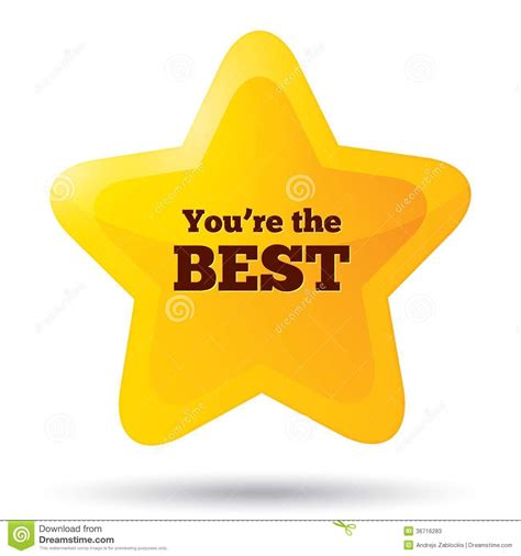 at your best you are you are the best icon customer service award stock