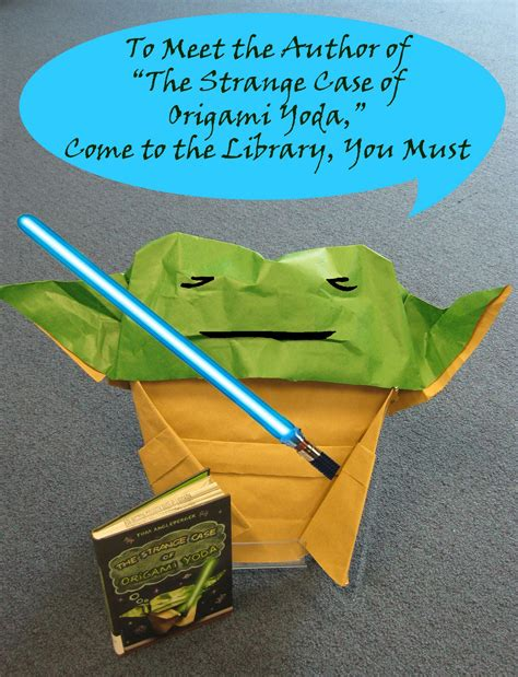 Tom Angleberger Origami Yoda - author event quot the strange of origami yoda quot